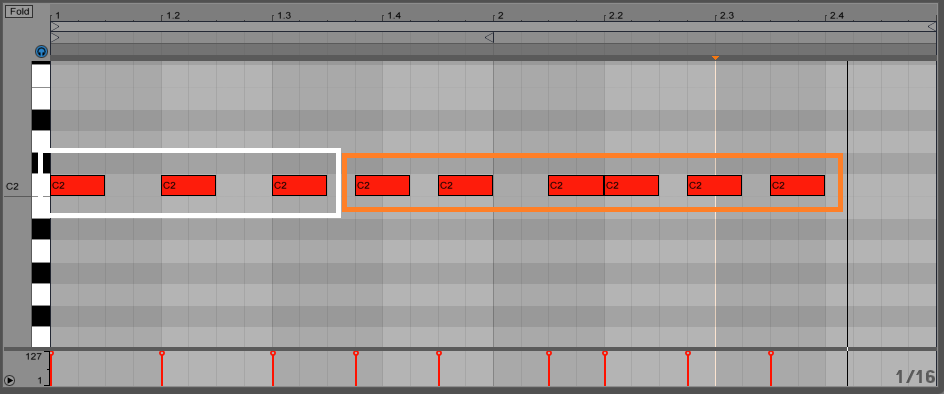 Notice how the first 3 hits are playing on beat   but then they start to  get much closer to each other  This is a common arrangement in Future House. Dissecting 5 Future House Beats   Pro Music Producers